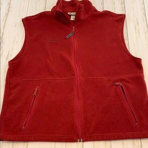 Columbia Fleece Zip-Up Vest. Size Large.